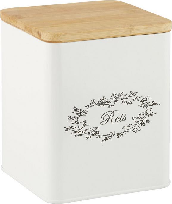 Škatla S Pokrovom Lore - bela, Romantika, kovina/les (14/14/16cm) - Zandiara