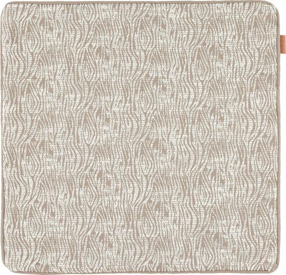 Kissenhülle Jenni in Taupe, ca. 45x45cm - Taupe, MODERN, Textil (45/45cm)
