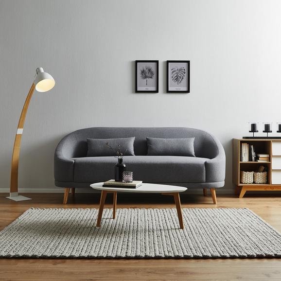 Sofa Jannike inkl. Kissen - Dunkelgrau, MODERN, Holz/Textil (201/82,5/81,5cm) - Modern Living