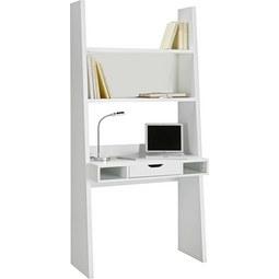 Schreibtisch in Weiß matt - Weiß, MODERN, Holzwerkstoff (90/186/46cm)