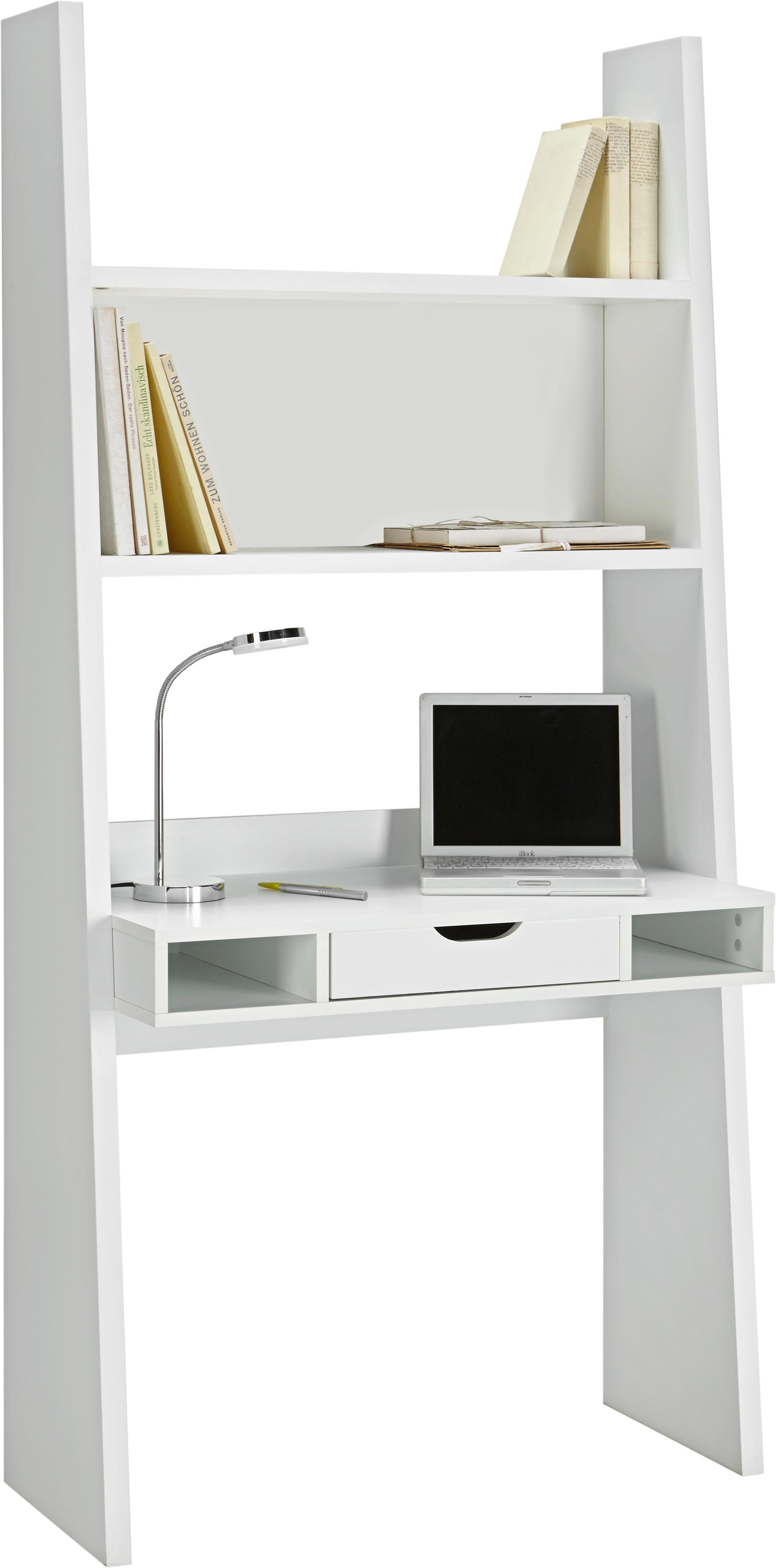 Schreibtisch In Weiß Matt   Weiß, MODERN, Holzwerkstoff (90/186/46cm