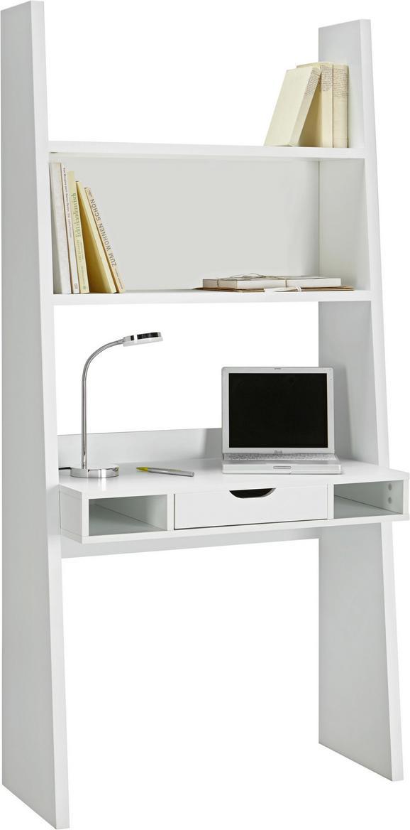 Schreibtisch Weiß matt - Weiß, MODERN, Holzwerkstoff (90/186/46cm)
