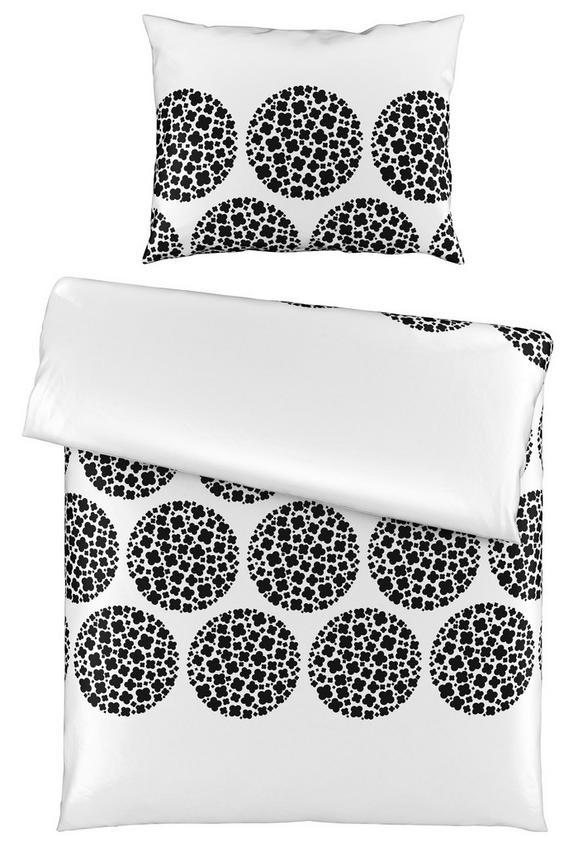 Posteljina Angelika - bijela/crna, Modern, tekstil (140/200cm) - Mömax modern living