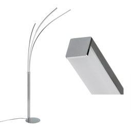 LED-Stehleuchte Maja max. 6,2 Watt - Chromfarben/Silberfarben, Metall (80/58/215cm)