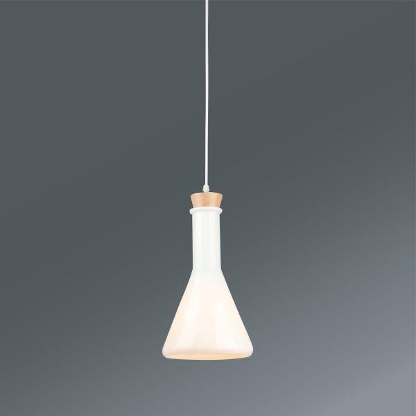 Hängeleuchte Nela, max. 60 Watt - Weiß, MODERN, Glas/Metall (12,5/151cm) - MÖMAX modern living