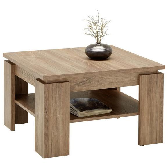 Klubska Miza Riva - hrast, leseni material (70/43/70cm) - Modern Living