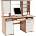 Masă De Birou Thema 2 - stejar Sonoma/alb, Modern, plastic/compozit lemnos (160/153,4cm)