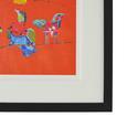 Bild Birdy I Multicolor ca.46X56X3cm - Multicolor/Schwarz, MODERN, Glas/Holz (46/56/3cm) - Bessagi Home