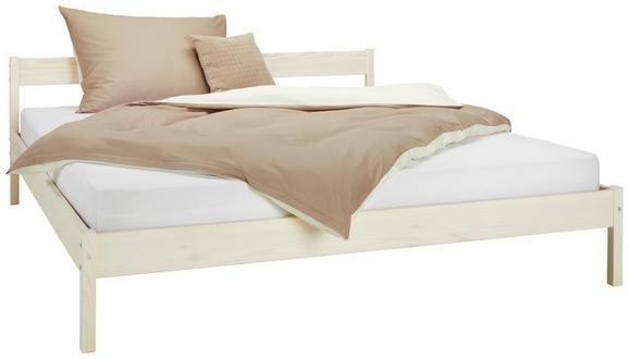 Bett Kiefer Bianco 180x200cm - Kieferfarben, Holz (186/70/206cm) - Modern Living