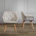 Stuhl Elsa - Champagner/Buchefarben, MODERN, Holz/Textil (66/81,5/60,5cm) - Modern Living