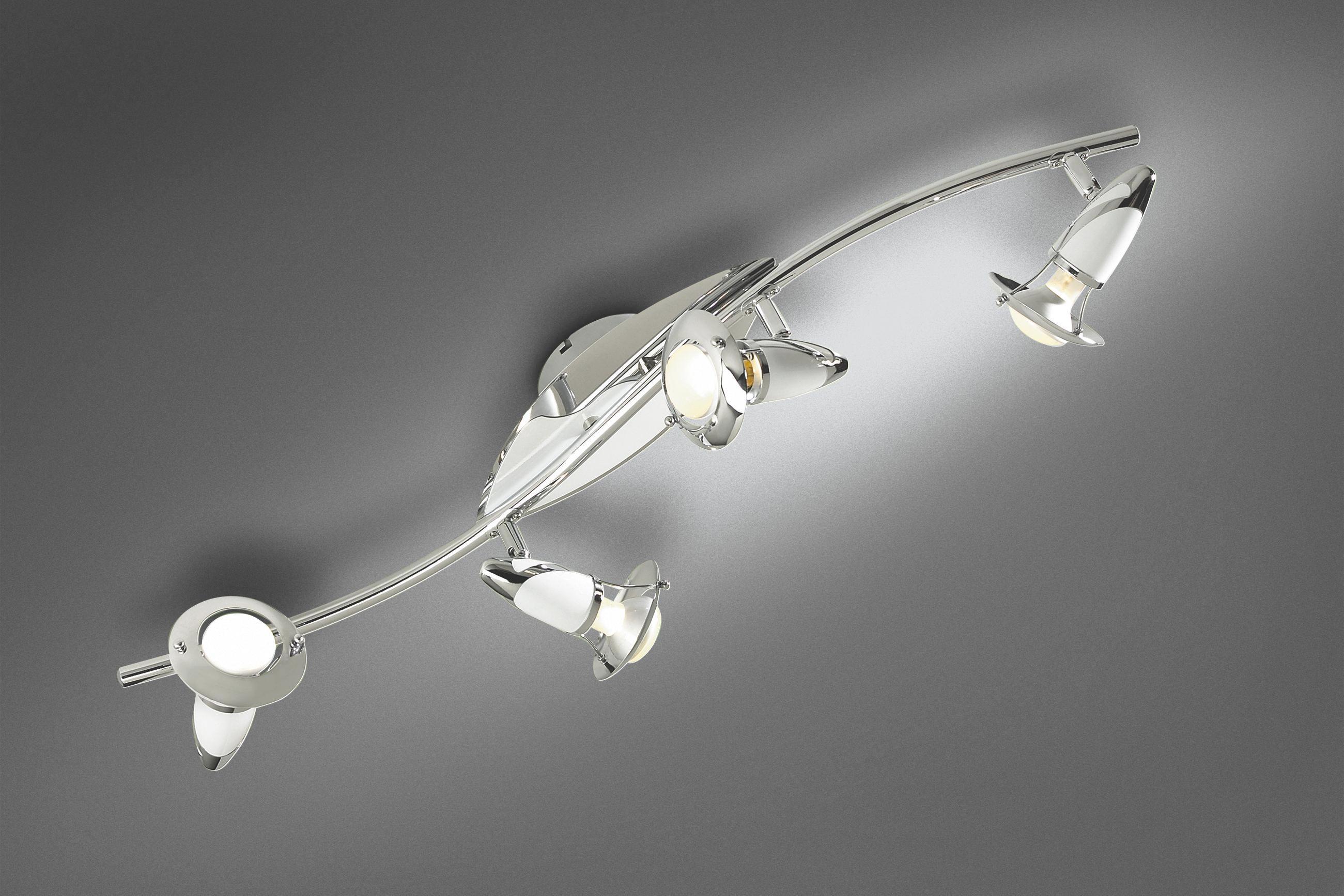 Reflektor Lord - bela/krom, Trendi, kovina (84cm) - MÖMAX modern living