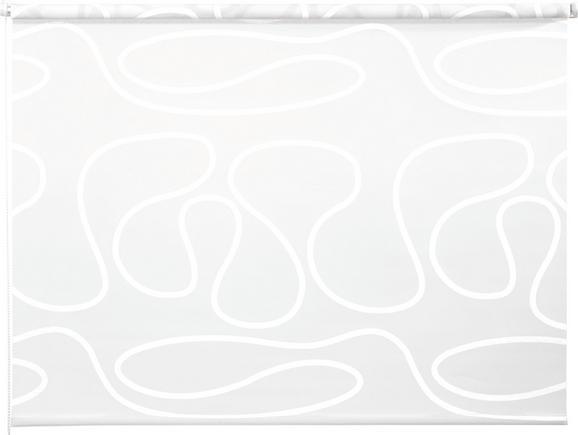 Klemmrollo Move in Weiß, ca. 120x160cm - Weiß, KONVENTIONELL, Textil (120/160cm) - Mömax modern living