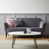 Sofa Florentina - Dunkelgrau/Goldfarben, MODERN (170/84/73cm) - Modern Living