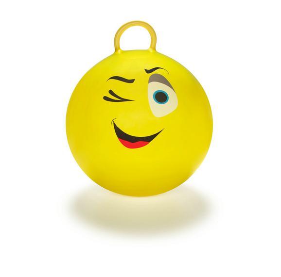 Hüpfball Smiley in Gelb - Gelb, Kunststoff (45cm) - MÖMAX modern living