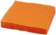 Serviette Mini Dots Orange/Weiß - Orange/Weiß, Papier (33/33cm)
