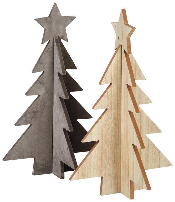 Weihnachtsbaum Lenius Verschiedene Designs - Naturfarben/Grau, Holzwerkstoff (24/24/40cm)