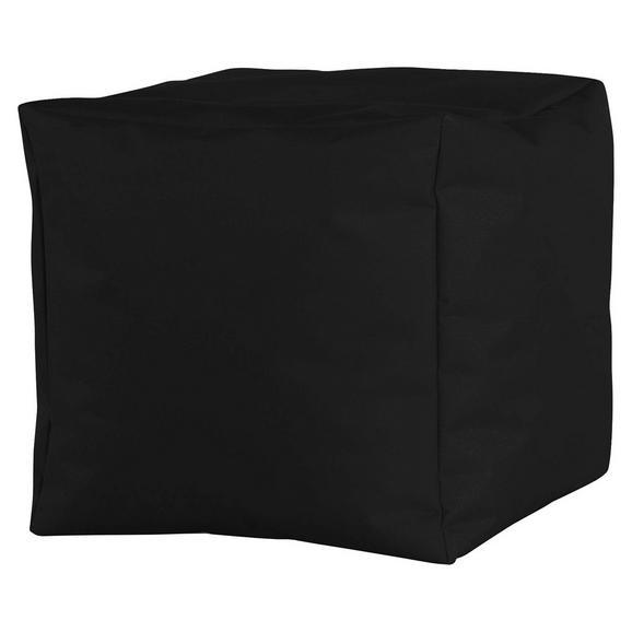 Tabure Cube Xl -sb- - črna, Moderno, tekstil (50/50/50cm) - Mömax modern living