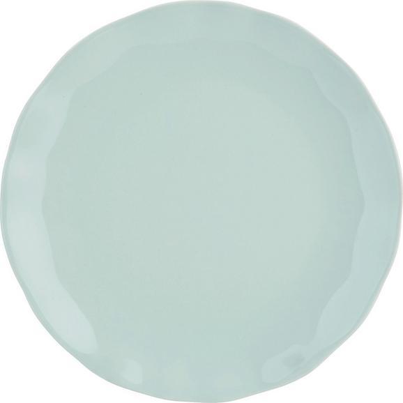 Dessertteller Pauline Mintgrün - Mintgrün, ROMANTIK / LANDHAUS, Keramik (19cm) - Zandiara