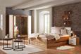 Nachtkästchen Eichefarben/alpinweiß - Alufarben, KONVENTIONELL, Holzwerkstoff/Kunststoff (50/48/37cm) - Modern Living