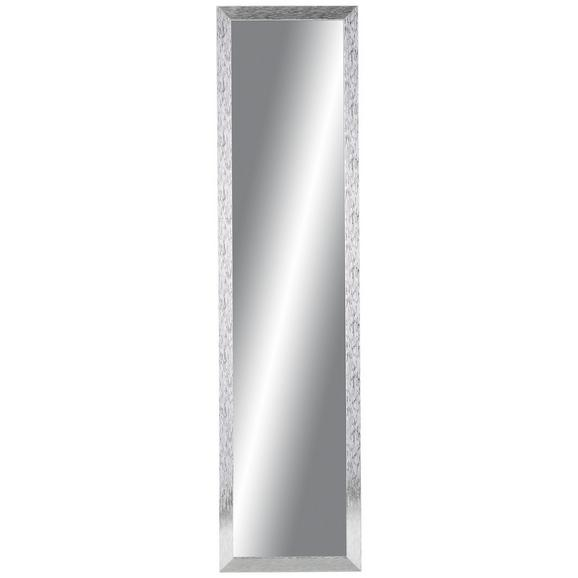 Stensko Ogledalo Clara - srebrna, Moderno, steklo/leseni material (35/140cm)