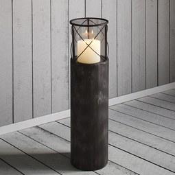 Windlicht Lox - Dunkelgrau, MODERN, Metall (20/75cm)