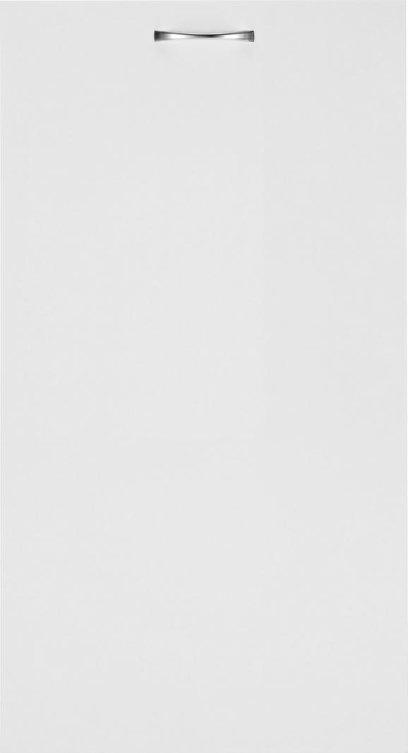 Tür in Weiß - Chromfarben/Weiß, MODERN, Holzwerkstoff/Metall (55/102/2cm)