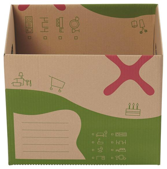 Kartondoboz Költözéshez Dave - Hullámkarton (44,7/33,8/36,7cm) - Based