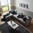 Wohnlandschaft Aurelia inkl. Rückenkissen - Grau, MODERN, Holz/Kunststoff (200/85/284cm) - Mömax modern living