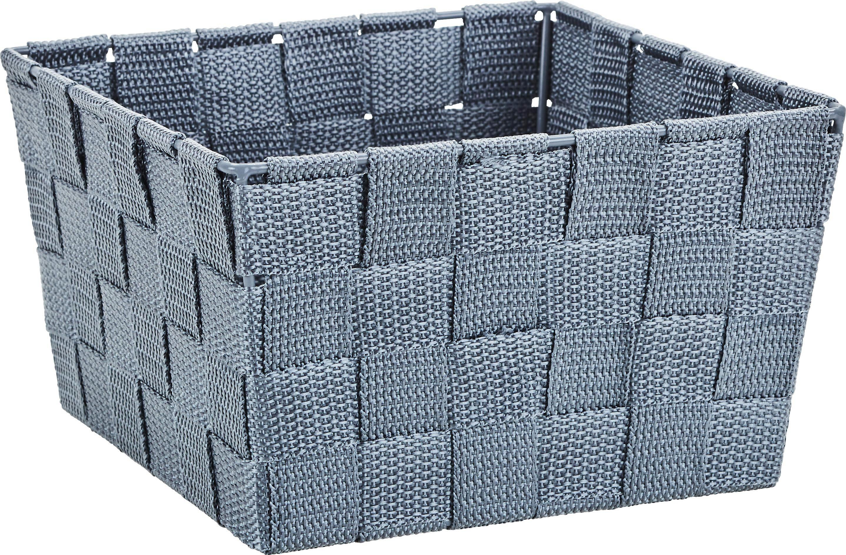 Kosár Nelly - szürke, modern, textil (19/19/11cm) - MÖMAX modern living