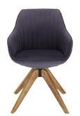 Stol Chill - siva/hrast, tekstil/les (60/83/65cm) - Modern Living