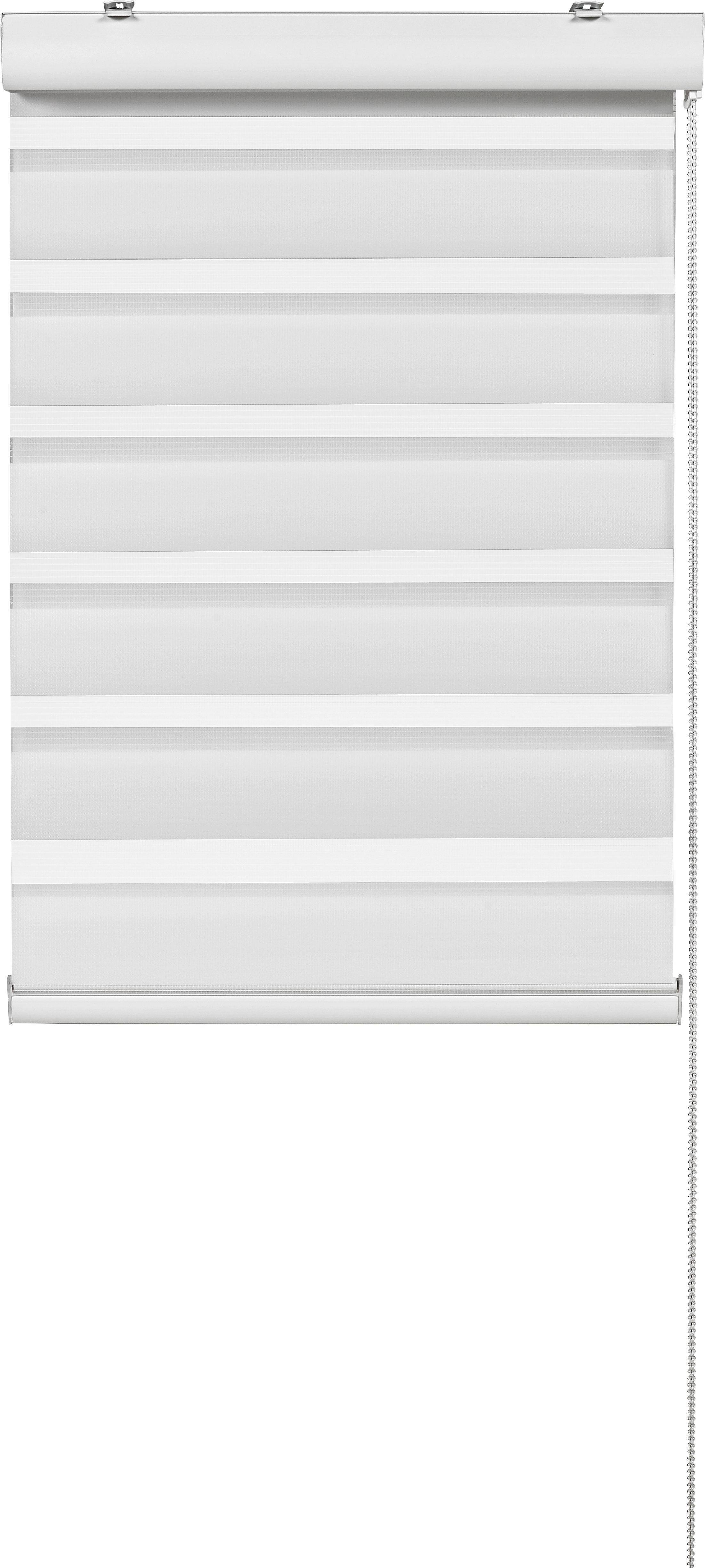 Dupla Roló Klemm Light - fehér, modern, textil/fém (100/160cm) - MÖMAX modern living
