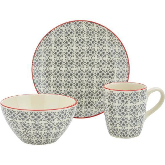Frühstücksset Mosaico 3-teilig - Grau, Keramik - Mömax modern living