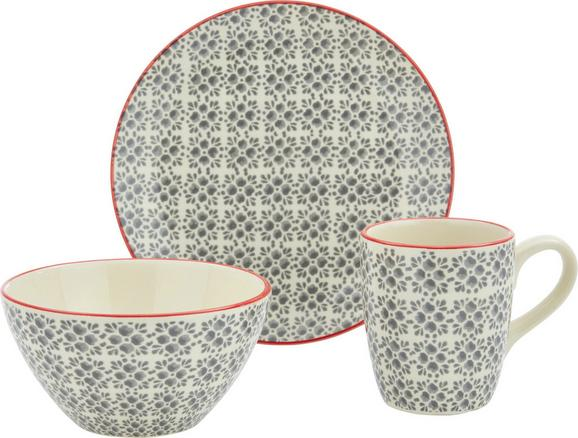 Frühstücksset Mosaico - Grau, Keramik - Mömax modern living