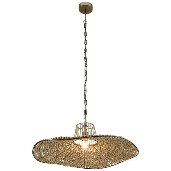 Hängeleuchte Maira aus Hartholz/Metall - Naturfarben, ROMANTIK / LANDHAUS, Holz/Metall (73,5/132cm) - Zandiara