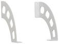 Fachbodenhalter in Weiß aus Metall - Weiß, Metall (2,6/18/19cm)