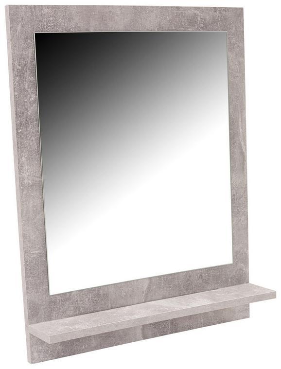 Ogledalo Attack - svetlo siva, Moderno, leseni material (60,4/68/10cm) - Mömax modern living