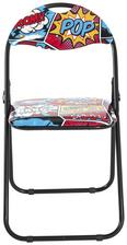 Klappsessel mit Schriftzug - Multicolor, MODERN, Kunststoff/Metall (44/80/47cm)