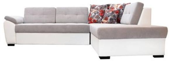 Funkcijska Sedežna Garnitura Dream New - Leva - siva/bela, Moderno, tekstil (290/220cm) - MÖMAX modern living