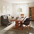 Stolica S Naslonom Za Ruke Chill - siva/boje hrasta, drvo/tekstil (60/83/65cm) - Modern Living