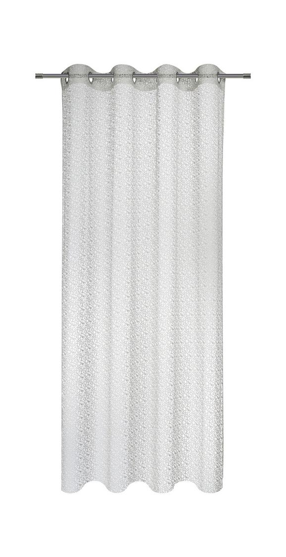 Zavesa Z Obročki Astrid - bela, Moderno, tekstil (140/245cm) - Mömax modern living