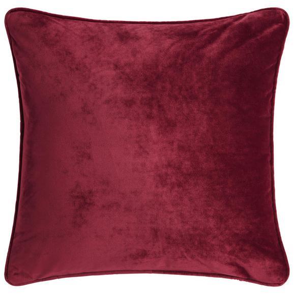 Zierkissen Viola - Bordeaux, KONVENTIONELL, Textil (45/45cm) - Premium Living