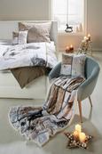 Odeja Patchwork - svetlo rjava/bela, Konvencionalno, tekstil (130/160cm) - Mömax modern living