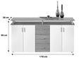 Komoda Lift - bela/hrast, Moderno, leseni material/les (178/90/38cm) - Mömax modern living
