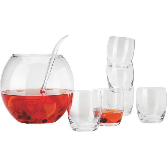 Bowle-set Dabbie, 8-teilig - Glas/Kunststoff (4,3l) - Mömax modern living