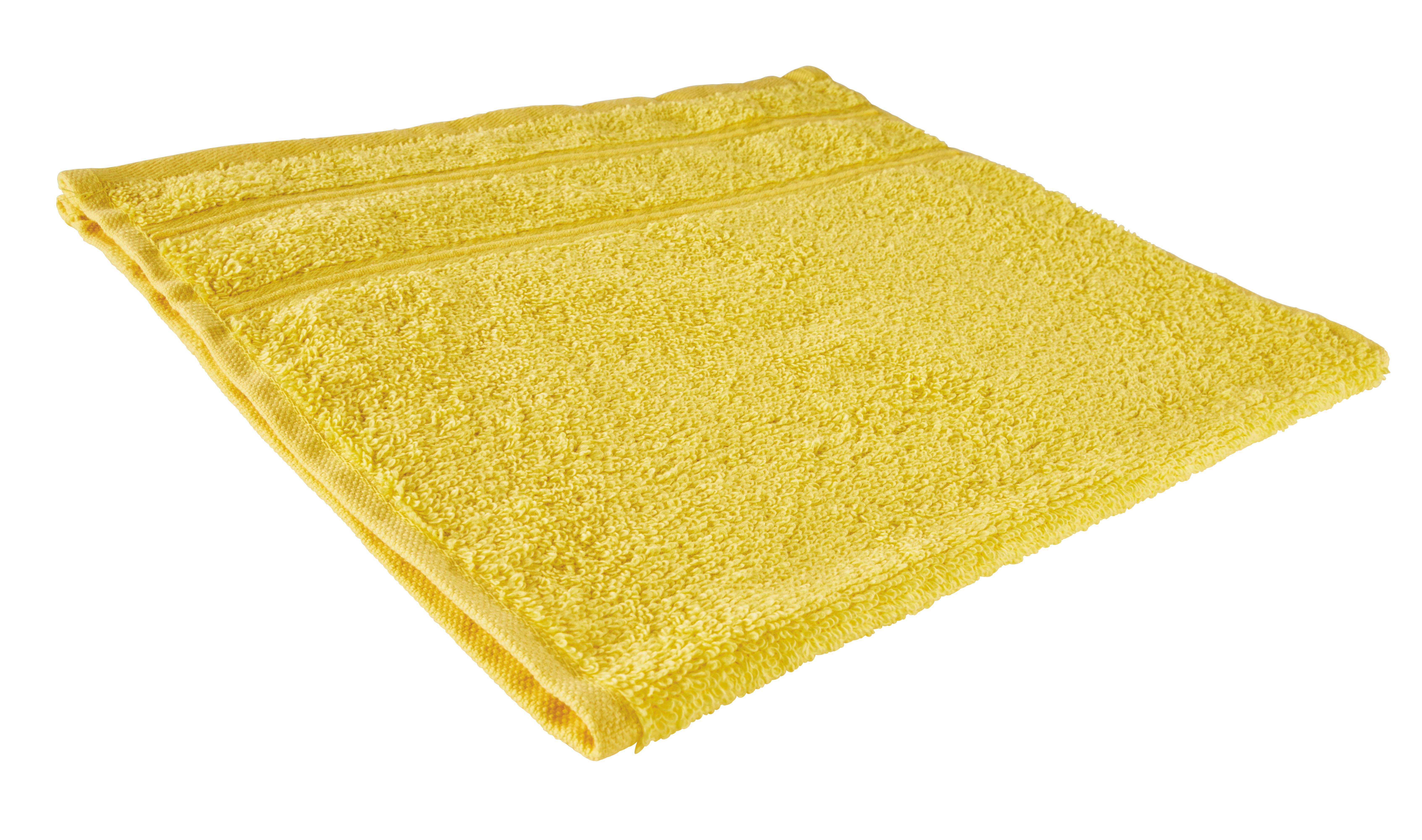 Kéztörlő Melanie - sárga, textil (30/50cm) - MÖMAX modern living