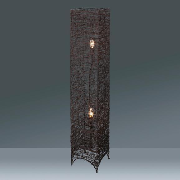 Stehleuchte Fatima, max. 40 Watt - Braun, ROMANTIK / LANDHAUS, Textil/Metall (20/20/115cm) - MÖMAX modern living