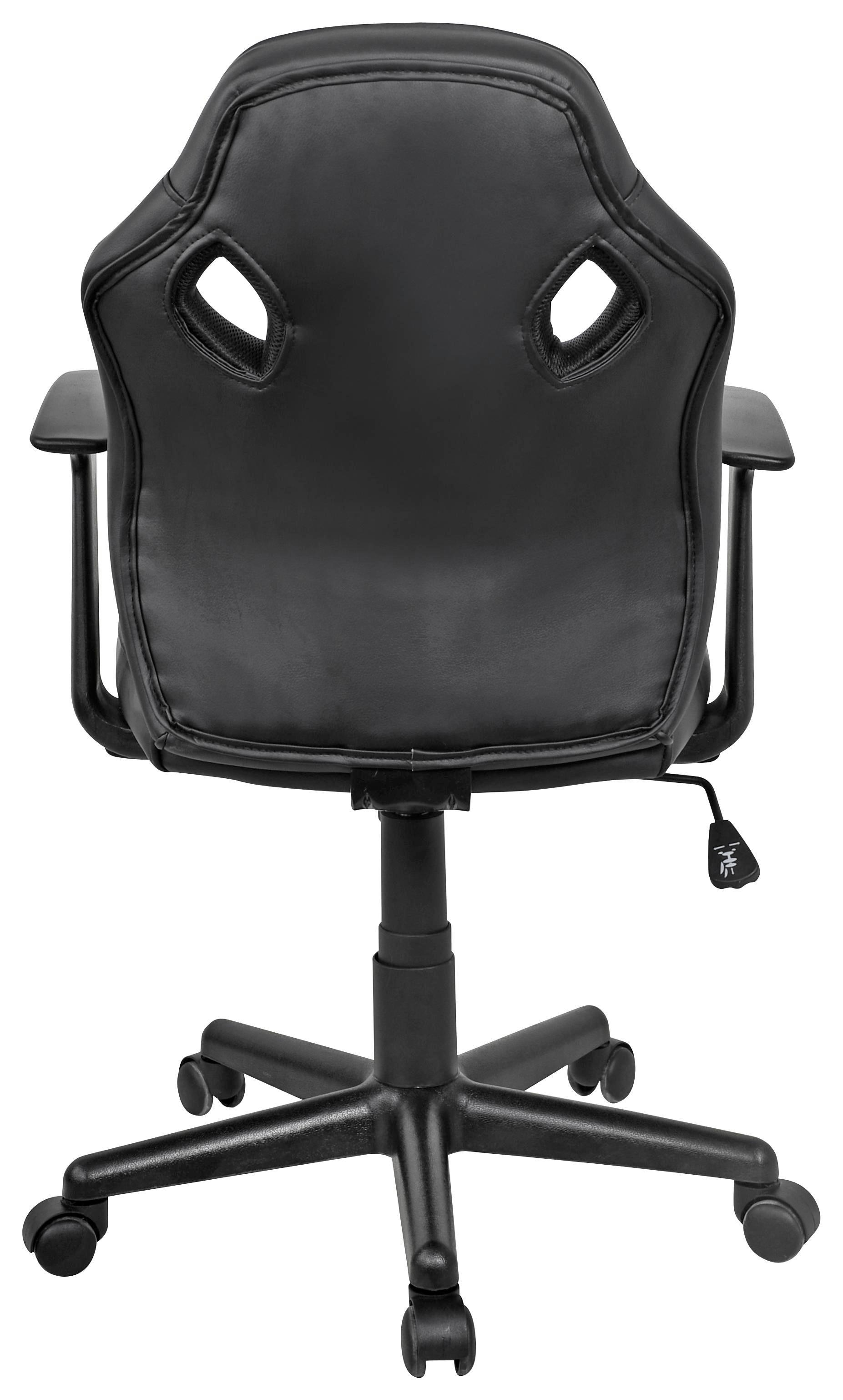 Forgószék Billy - fekete/szürke, modern, műanyag/textil (59,5/89-99/60,5cm)