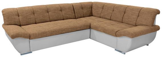 Sedežna Garnitura Axel Ii - svetlo rjava/bela, Moderno, tekstil (260/195cm) - MÖMAX modern living