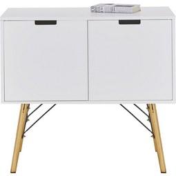 Kommode in Weiß aus Kiefer - Weiß/Kieferfarben, MODERN, Holz/Holzwerkstoff (80/71/40cm) - MÖMAX modern living