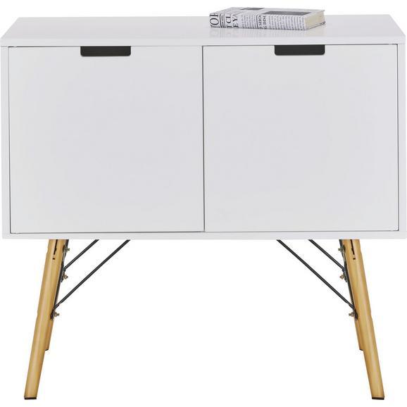 Kommode in Weiß Teilmassiv - Weiß/Kieferfarben, MODERN, Holz/Holzwerkstoff (80/71/40cm) - Mömax modern living